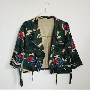 Cute Camouflage Floral Jacket